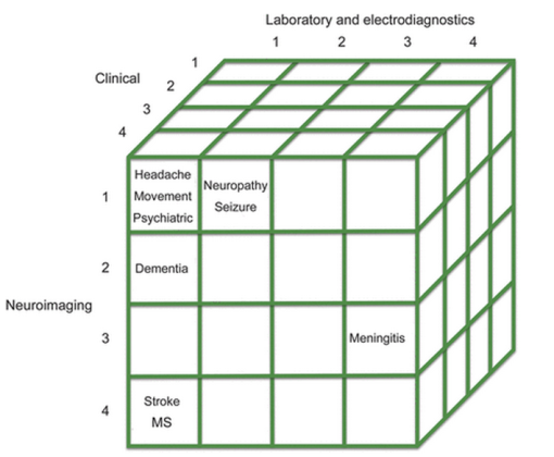 Diagnosis cube; doi: 10.1212/WNL.0b013e3182a840c7